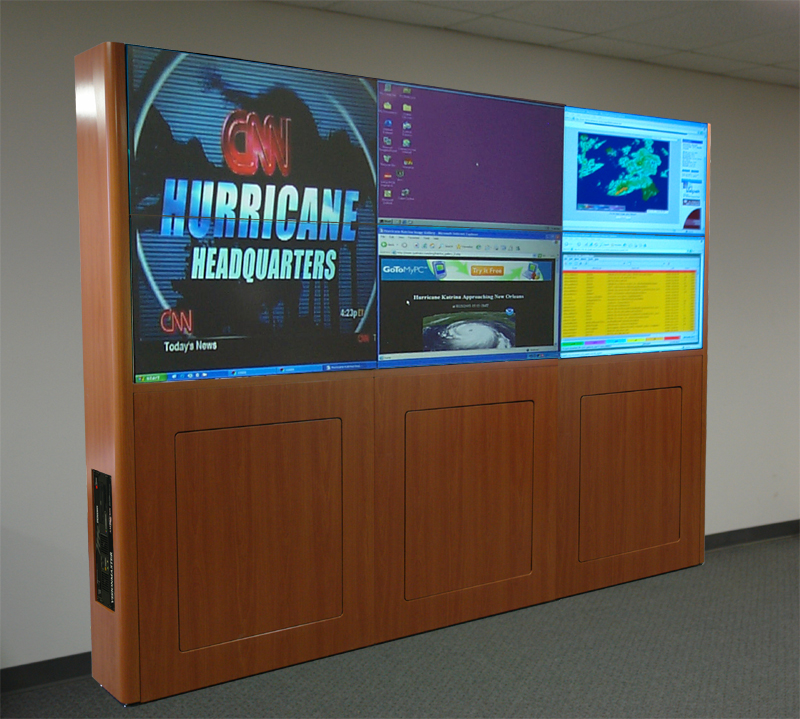 Visionmaster LCD Video Wall Cabinetry