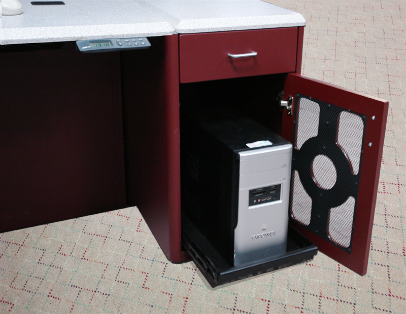 Integrated CPU Cabinet with Box Drawer
