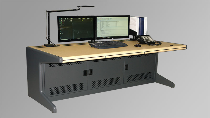 14 gauge tubular steel frames consoles for control rooms